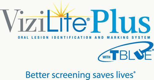 "ViziLight Plus blue logo ""better screening saves lives"""